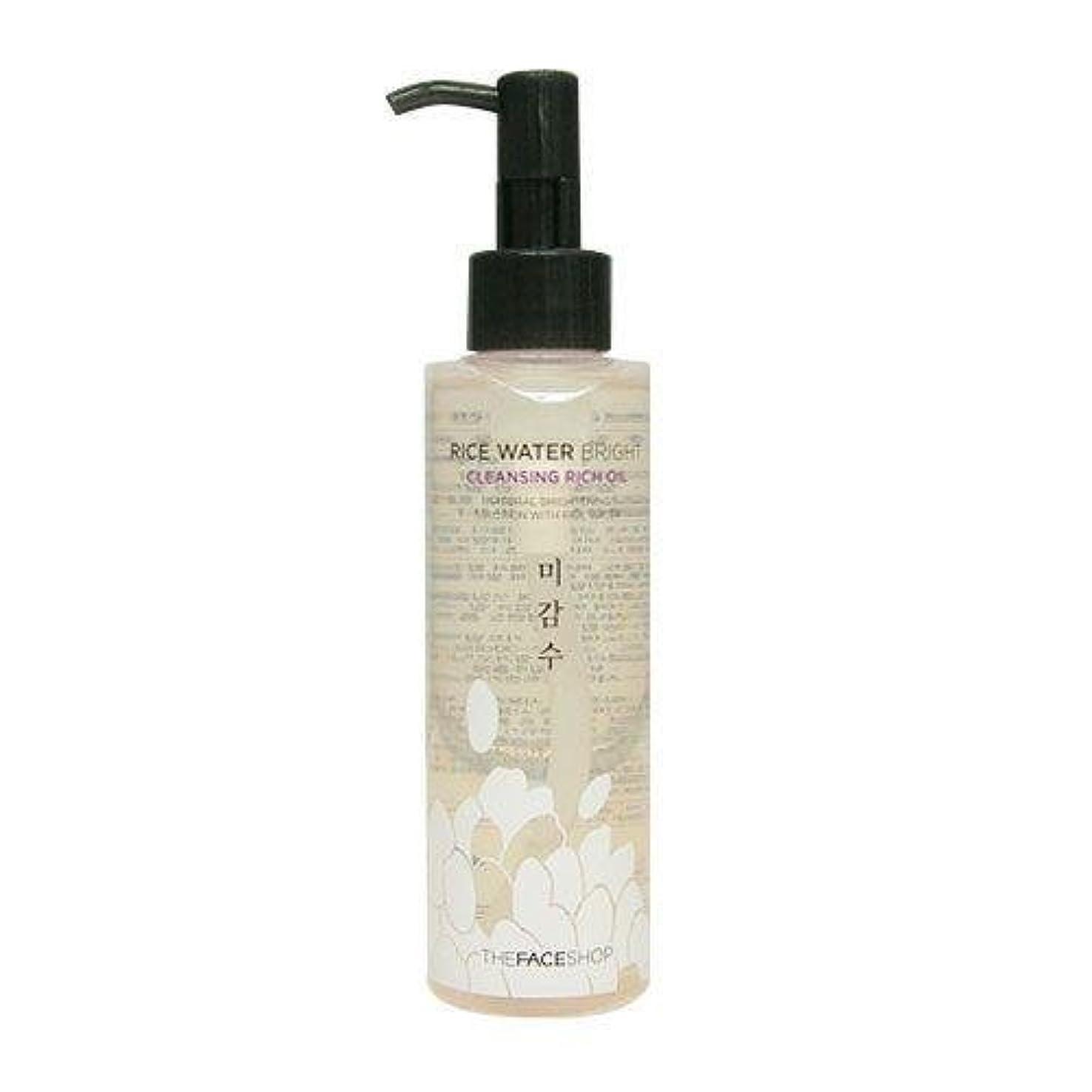 志す素晴らしさ電子レンジThe Face Shop Rice Water Bright Cleansing Rich Oil (Dry Skin) (Korean original)