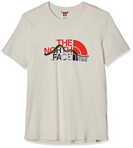 The North Face S/S Mount Line tee Camiseta, Hombre, Vintage White, XS