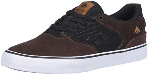 Emerica The Reynolds Low Vulc Skate Shoe - Scarpe da Uomo, Marrone (Nero Marrone), 39.5 EU