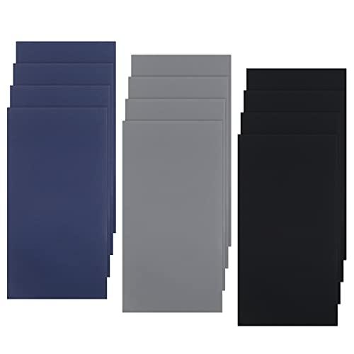 12 pegatinas impermeables para reparación de carpas de 20 x 10 cm, impermeables, para paraguas, reparación de nailon, autoadhesivas, 12 unidades