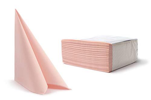 Airlaid Servietten Stoffähnlich 23 FARBEN 40x40cm Hochwertig Stoffoptik Hochzeitsservietten Geburtstag Hochzeit 50 Stück pro Packung (Baby Pink)