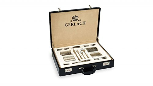 Gerlach Besteck-Set Glänzend Valor, Edelstahl, Silber, 52 x 42 x 10 cm, 68-Einheiten
