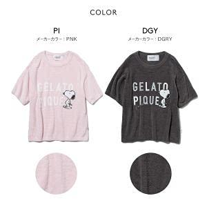 (ジェラートピケ)gelatopiqueレディース【PEANUTS】ロゴジャガードプルオーバージ(DGY-濃グレー、Free)