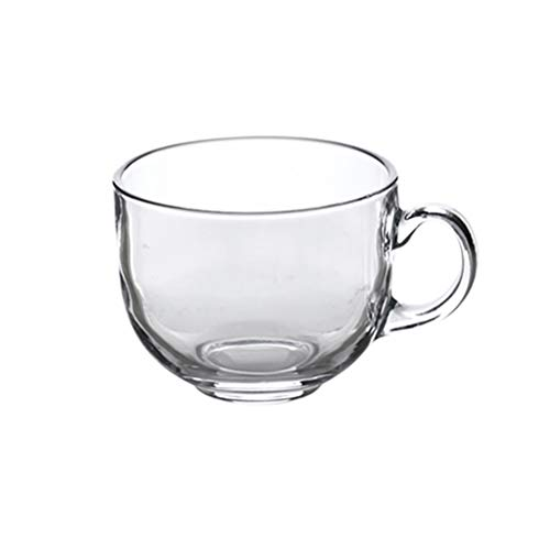 BESTonZON Tazas de café de Vidrio de 480ML Taza Transparente Grande Resistente al Calor con Mango para Leche Latte Cappuccinos Bolsa de té Bebida