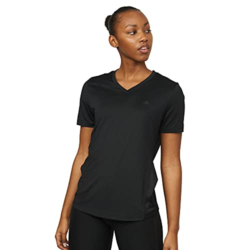 Women Workout T-Shirt, Breathable Fitness Top (Schwarz, XXL)