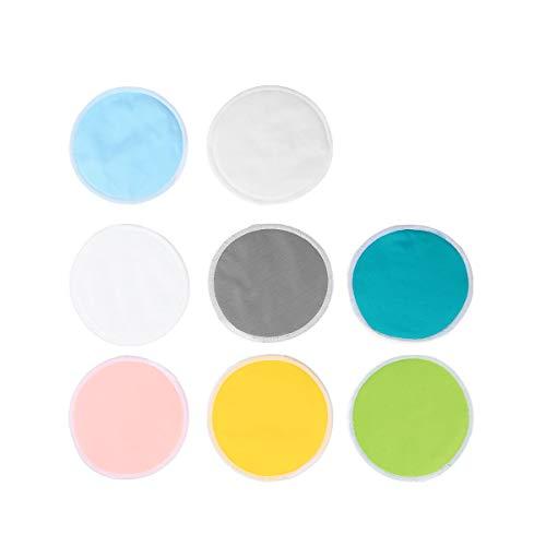 Frcolor 16pcs coussinets d'allaitement réutilisables coussins d'alimentation étanches pad de protection respiratoire éponges cosmétiques inserts de so