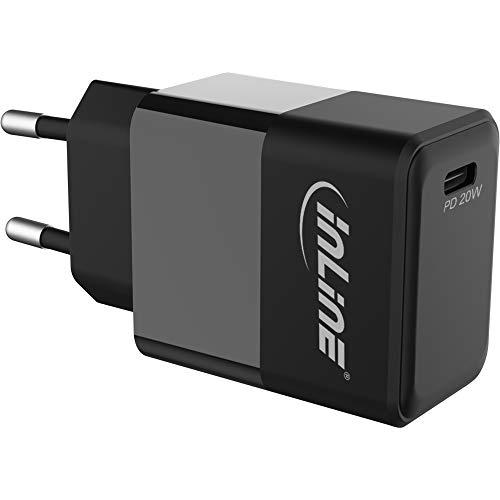 InLine USB PD Netzteil Ladegerät Single USB Typ-C, Power Delivery, 20W, schwarz, 31500B