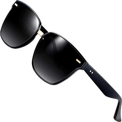ATTCL Clásico Gafas De Sol Hombre mujer Polarizadas Protección UV 555-Black