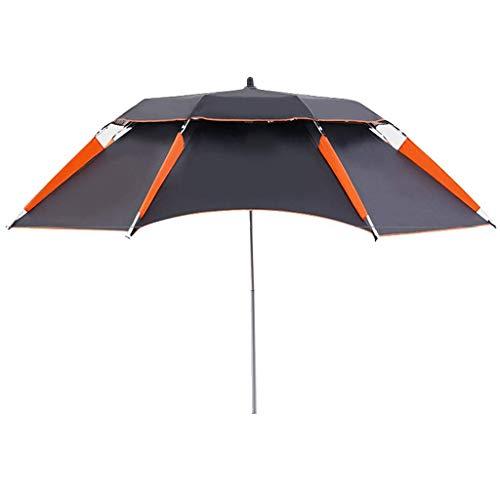 CCLLA Portable Parasol, Fishing Umbrella,Beach Umbrella,Incline,Heat Insulation,waterproof,Three Fold,Thickened Vinyl,Anti Ultraviolet Function(without Base)