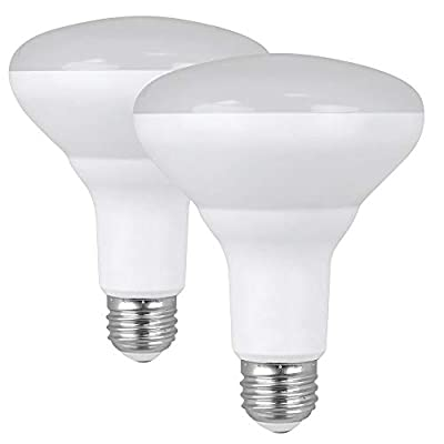 """Feit Electric BR30DM/841/10KLED/2 65W Equivalent 10.5 Watt Dimmable LED BR30 Reflector Light Bulb 2-Pack, 5""""H x 3.75""""D, 4100K Cool White, 2 Piece"""