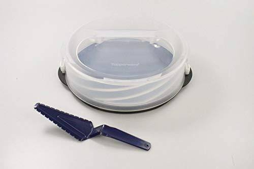 TUPPERWARE Exclusiv Tortentwist schwarz TWIST Tortenbehälter + Tortenheber
