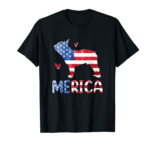 4th Of July Merica French Bulldog Patriotic Frenchie Dog T-Shirt