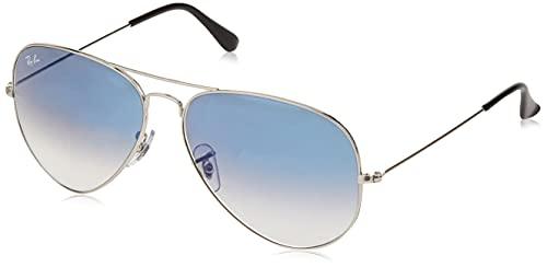 Ray-Ban Aviator Large Metal - Gafas de sol unisex, SILVER, 55