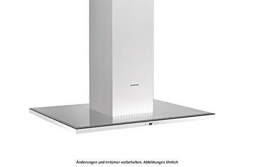 SILVERLINE Slim Isola SLI 900 S Inselhaube/Edelstahl/Schwarzglas / 90 cm/A