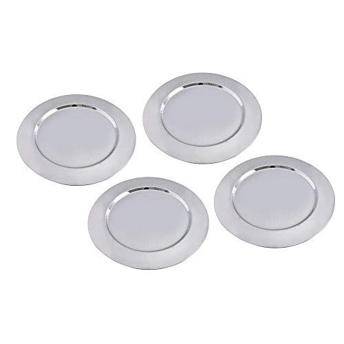 Kosma 4er Set Premium Platzteller | Edelstahl hochglanzpoliert | Deko-Platzteller - : Größe - 33 cm