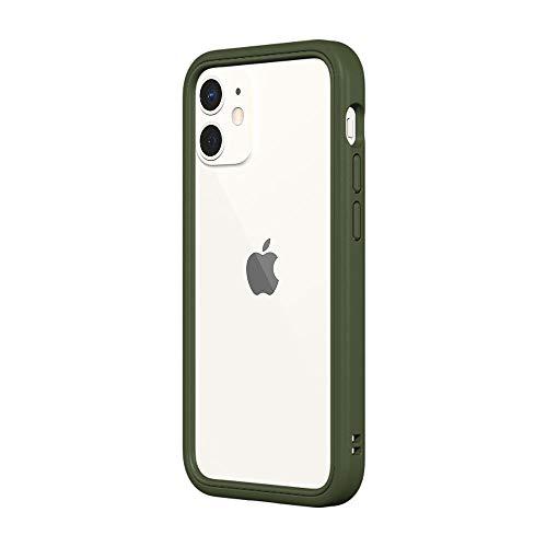 RhinoShield Bumper Case kompatibel mit [iPhone 12 Mini] | CrashGuard NX - Schockabsorbierende Dünne Schutzhülle 3.5 Meter Fallschutz - Camo Grün