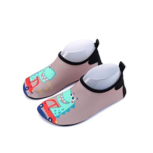 Zapatos de Agua al Aire Libre de la Playa Descalzo Zapatos de la Historieta Dinosaurio patrón de conducción Zapatos Piscina del Aqua Calcetines de Secado rápido Barefoot Surfing Yoga Accesorios G