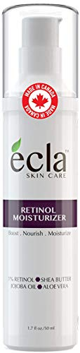 Retinol Moisturizer Cream for Face and Under Eyes – Made in Canada with 1% Retinol, Shea Butter and Organic Aloe Vera…