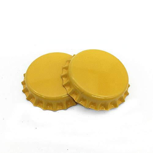 yellow beer bottle caps - 2