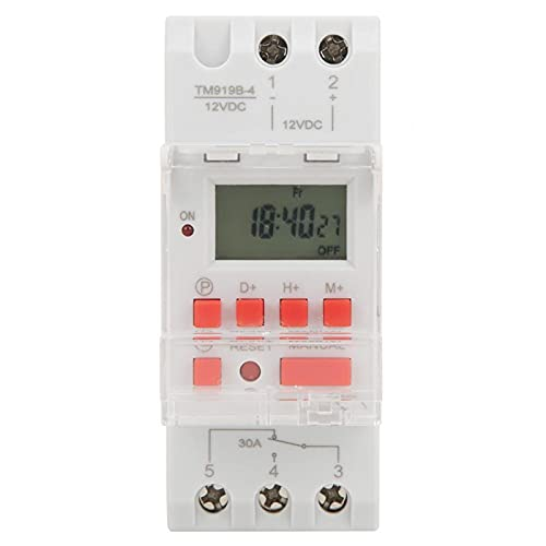 Digitale Zeitschaltuhr, DC 12V 30A 7 Tage Programmierbarer Timer LCD Display Zeitschaltuhr