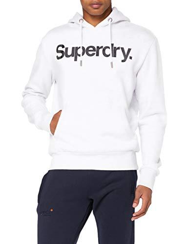 Superdry Mens CL NS Hood Hooded Sweatshirt, Weiß (Optic), XXL