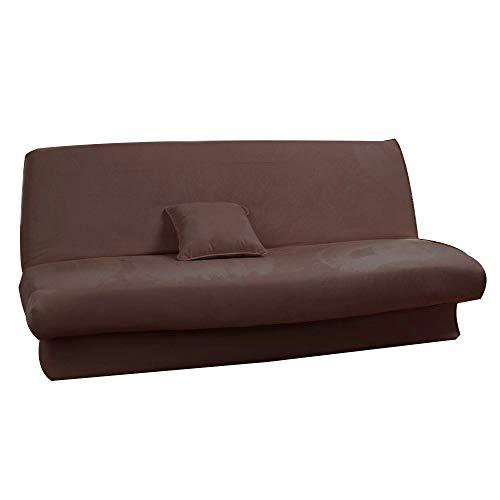 Antonouse - Funda de sofá cama extensible de 120 a 140 cm, 180 a 200 cm, color marrón