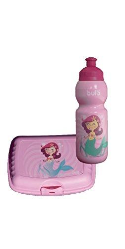 Kinder Trinkflasche MEERJUNGFRAU mit Brotdose im Set auslaufsicher, schadstofffrei, spülmaschinenfest