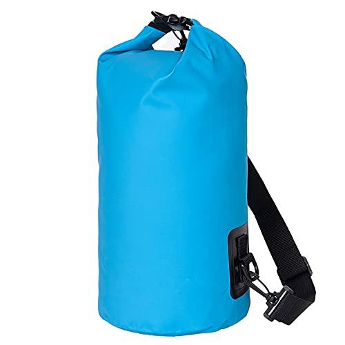 YCYUYK Bolsa seca flotante impermeable de 30 l que mantiene el equipo seco para kayak, rafting, barcos, senderismo, pesca (azul claro)