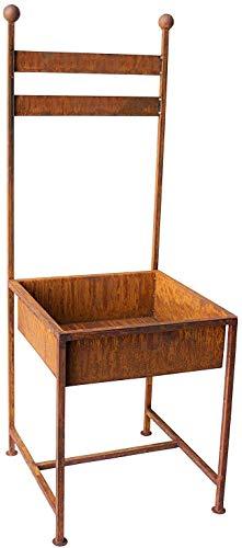 Bornhöft Stuhl zum Bepflanzen Rost Edelrost 114cm rostige Gartendeko Gartendekoration Blumenständer Pflanzgefäß Stuhl Garten Deko Dekoration Blumenkübel