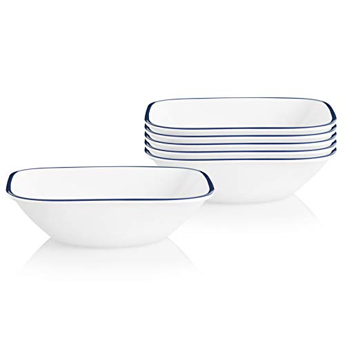 Corelle Chip Resistant Soup and Cereal Bowls, 6-Piece, Lia