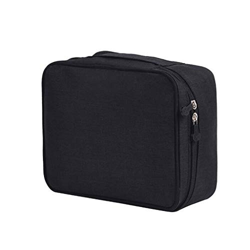 Trousse de toilette Sac cosmétique extérieur Stockage étanche Multi-Fonction Grande capacité Portable Simple Travel Wash Universal 3 Couleur 22 * ​​8 * 18 cm MUMUJIN (Color : Black)