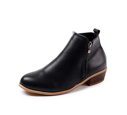XLBHSH enkellaarzen dames met hak Ankle Boots voor dames Chelsea winter korte schacht suède leer rits 3 cm laarzen zwart blauw bruin groen luipaard 35-43 EU
