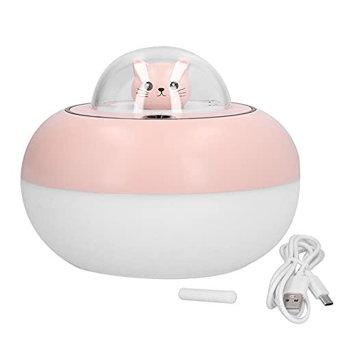 GAESHOW Humidificador de Aire, humidificador de Escritorio LED de 300 ml, humidificador de Aire de Gran Capacidad Colorido, silencioso, Alimentado por USB, Blanco y Rosa, para Oficina en casa
