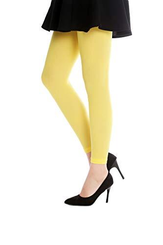 Medias amarillas opacas para mujer