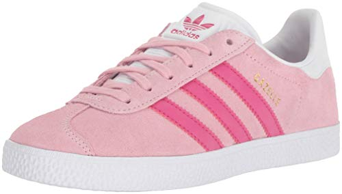 adidas Originals Unisex Gazelle Sneaker, Clear Pink/Real Magenta/White, 6.5 M US Big Kid