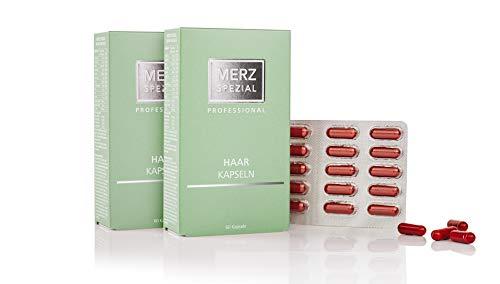 Merz Spezial Professional Haarkapseln - mit Vitamin B Komplex für mehr Haarwachstum und stärkere Haarwurzeln - Nahrungsergänzungsmittel (2 x 35,5 g / 120 Kapseln)