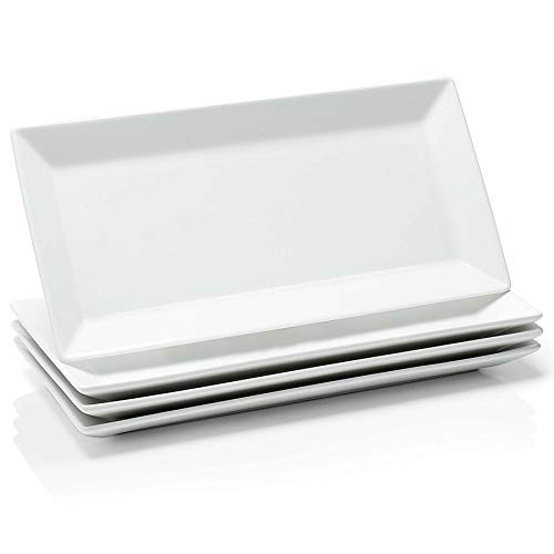 12 Inch Porcelain Rectangular Serving Trays