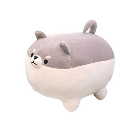 Gaddrt 40 cm Anime Shiba Inu Plüsch gefüllt weiches Kissen Puppe Cartoon Doggo niedlichen Shiba Stofftier Plüschtier (Gray 50cm)