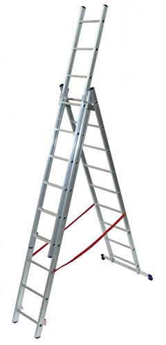 SCALA A SFILO FACAL 3 rampe 9+9 +9 SCALINI IN ALLUMINIO made in Italy