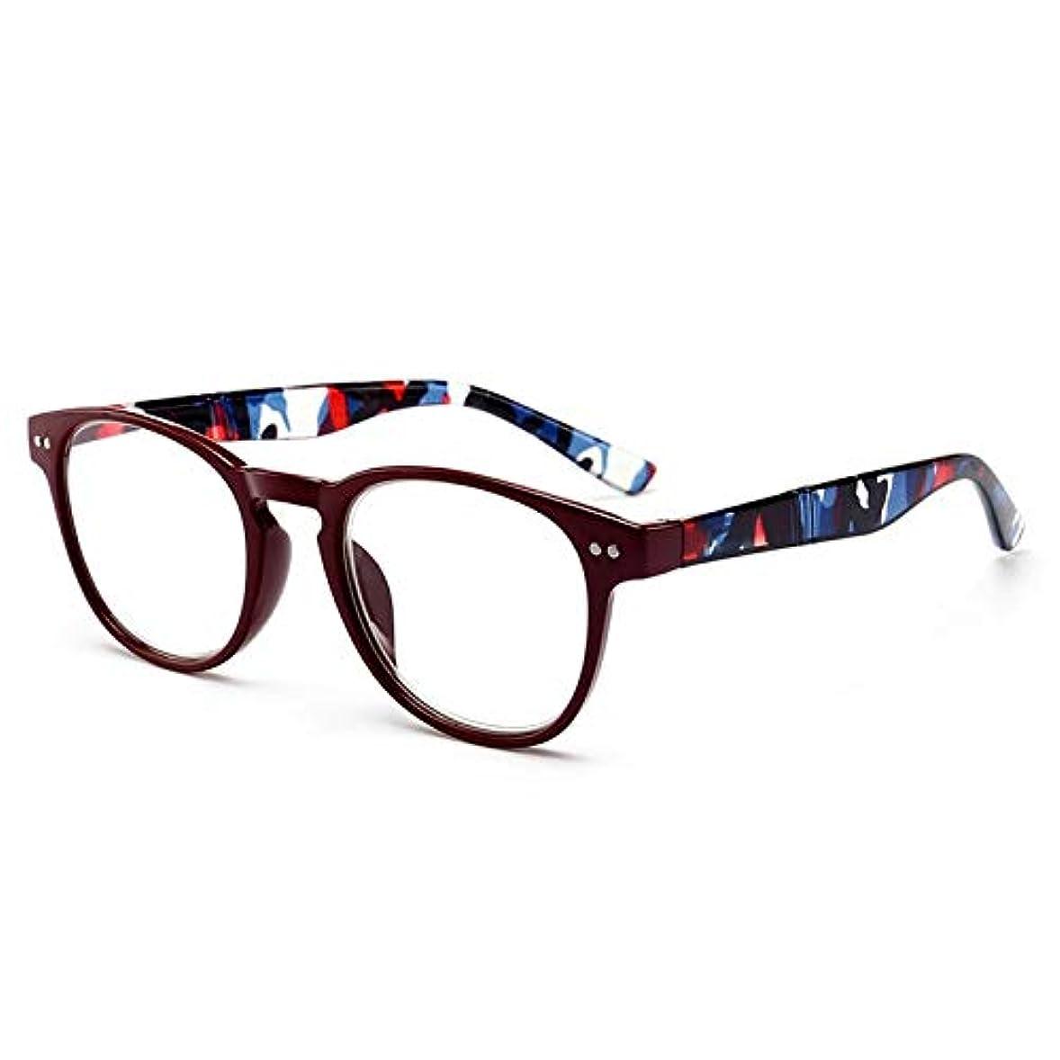 投資するワーディアンケース妨げる老眼鏡老眼鏡メガネフルフレーム+1.0から+4.0両親へのポータブルギフト高齢者ケア-赤