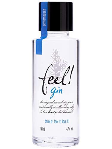 Feel! Dry Gin Feel! Gin 1 x 0,05 L (47{3ad29141cc33b4232f1f67894342650e4132a91c13159fa6a4ef4a9e2f69f665} Vol.)   fruchtiger Gin mit Biozertifizierung   handcrafted - Miniaturflasche - Mini