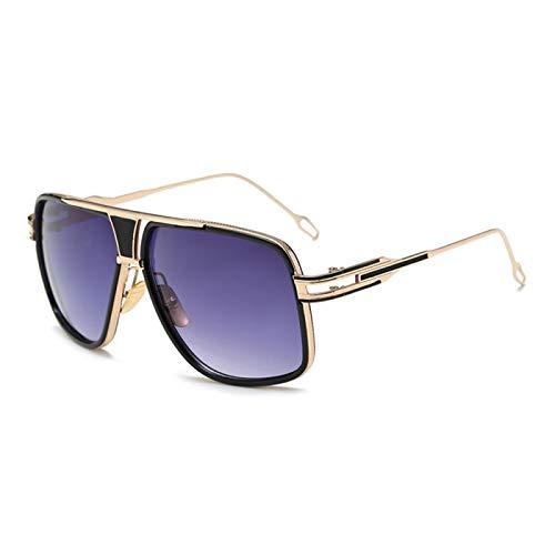 Sunglasses Gafas de Sol de Moda Gafas De Sol Clásicas De Gran Tamaño para Hombre Gafas Cuadradas De Moda Gafas De Sol Re