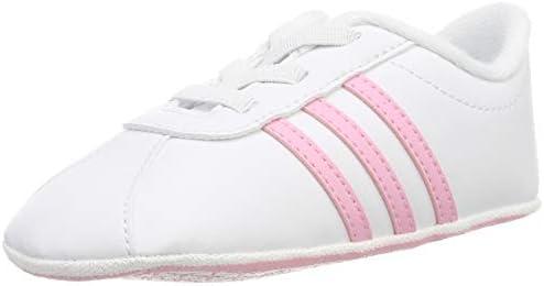 adidas VL Court 2.0 Crib, Zapatillas de Estar por casa Unisex niños, Multicolor (Ftwbla/Rosaut/Grasua 000), 18 EU