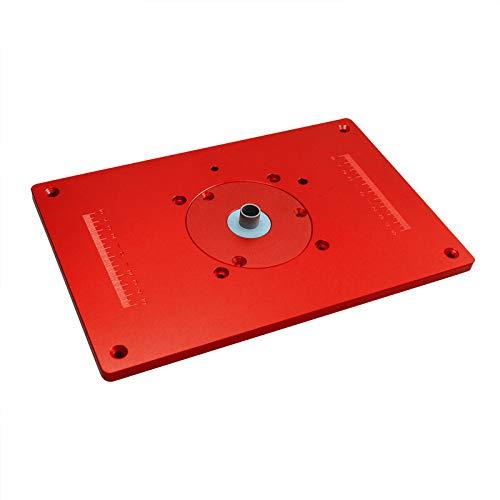 YAMEIJIA Placa de inserción de Mesa, Inserte el Kit de la Placa Base Máquina cortadora de tableros Rojos Sierras de Tablero abatibles Carpintería