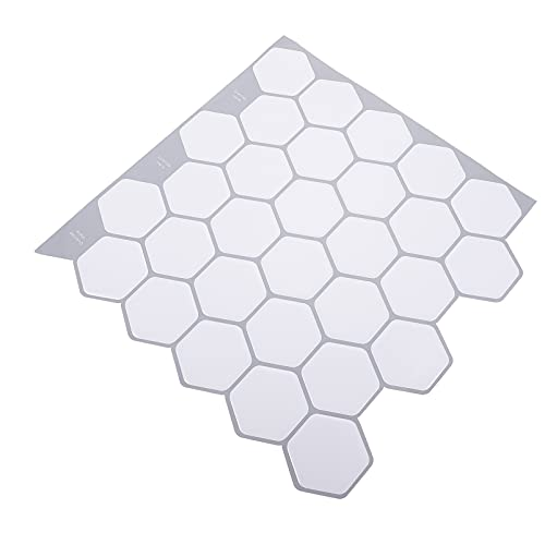 VOSAREA 1 Juego de Adhesivos Hexagonales para Pared en Forma de Panal en 3D Adhesivos Geométricos para Pared de Vinilo Cáscara Y Palillo de Azulejos Papel Pintado para Cocina DIY