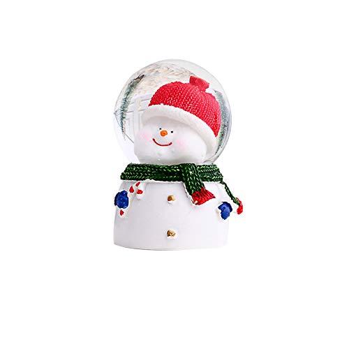 Zoomarlous Boule de Cristal, Boules de Noel, Boule de Neige Noel, Boule en Verre Photographie r la Décoration de la Photographie, Père Noël/Bonhomme de Neige Décoration de Bureau