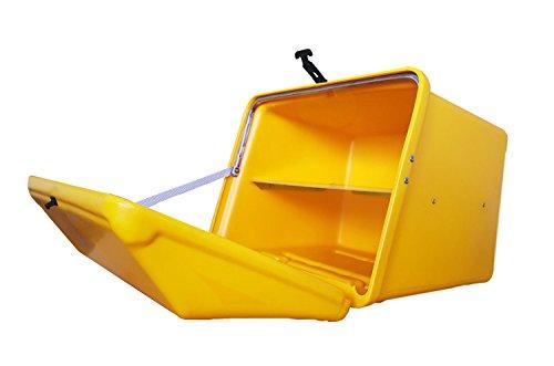 Portaequipajes Moto baúl Reparto Amarillo/Amarillo con Bandeja y Reflectantes homologados