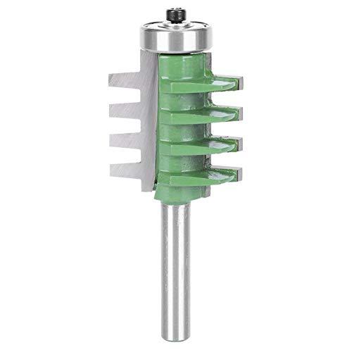 Broca de enrutador para juntas de pegamento para juntas de dedo, cortador de vástago, cortador de fresado, broca de enrutador para juntas de dedos de carburo cementado, para carpintería(Verde)