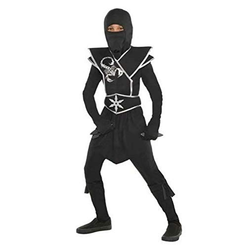 Suit Yourself Black Ops Ninja Costume for Boys, Size Small, Includes a Jumpsuit, a Face Scarf, a Ninja Star, and More