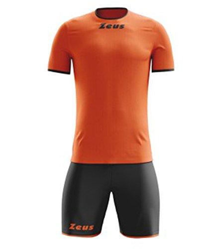 Zeus Kit de pegatinas naranja neón negro talla XXL